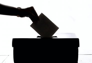 Voting person shadow